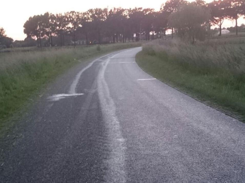 Wegdek reinigen Rossweg