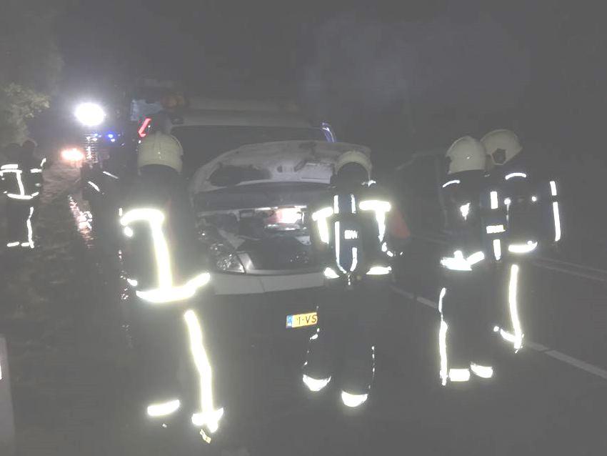 Autobrand op de N332
